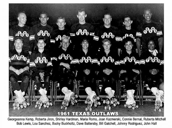 Texas Outlaws Roller Derby 1961 Team Photo
