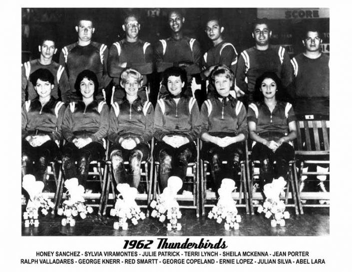 Thunderbirds Roller Derby 1962 Team Photo