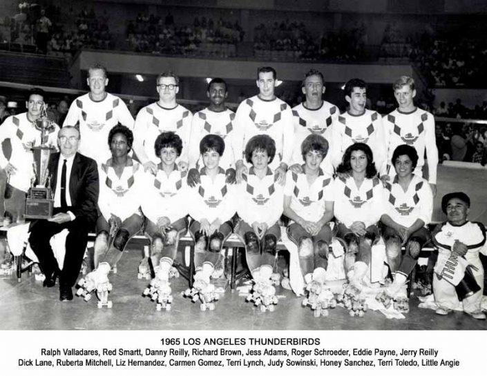 Thunderbirds Roller Derby 1965 Team Photo