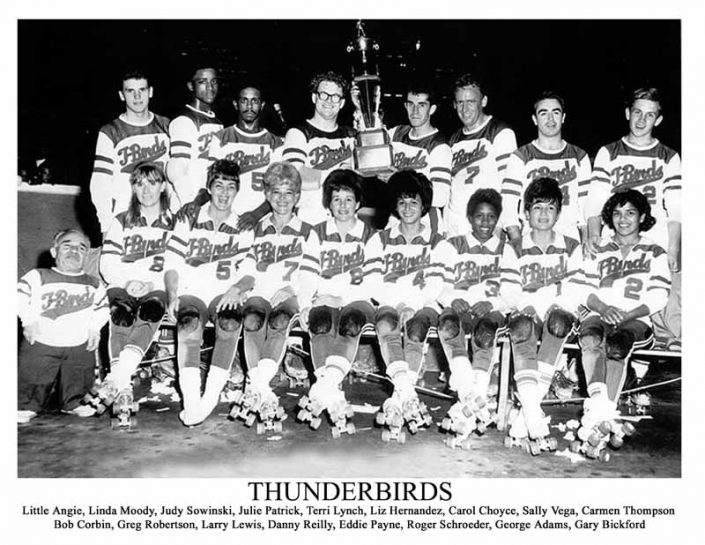 Thunderbirds Roller Derby 1967 Team Photo