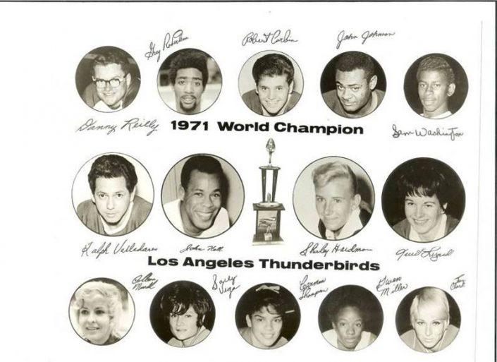 Thunderbirds Roller Derby 1971 Team Photo