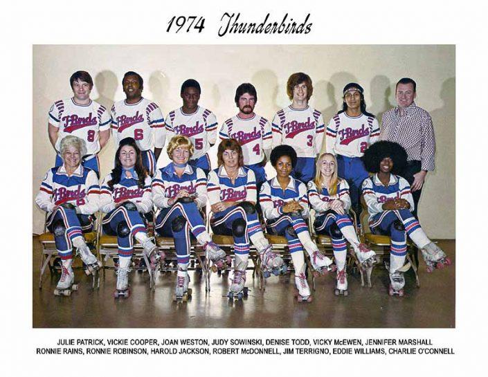 Thunderbirds Roller Derby 1974 Team Photo