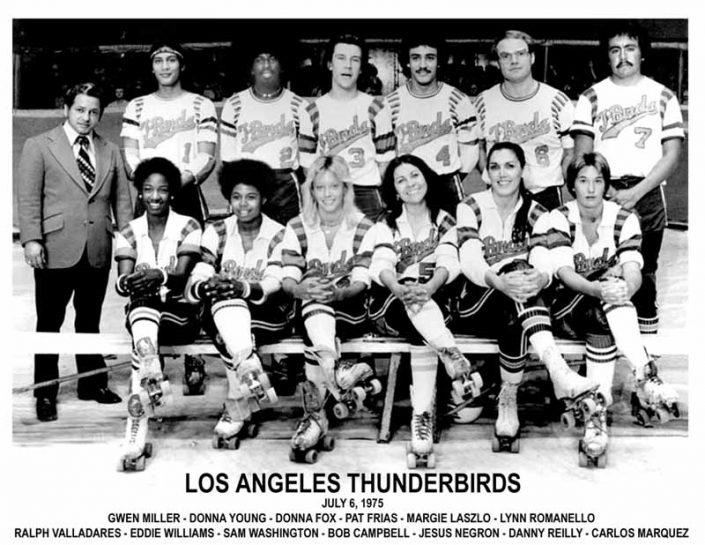 Thunderbirds Roller Derby 1975 Team Photo