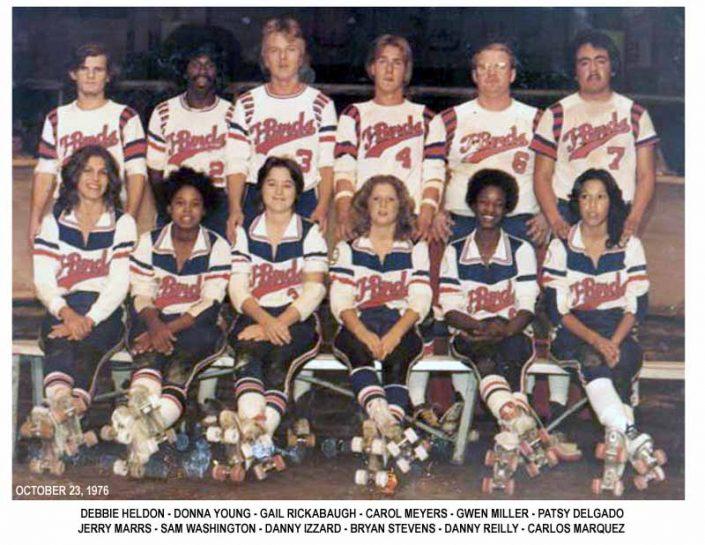 Thunderbirds Roller Derby 1976 Team Photo
