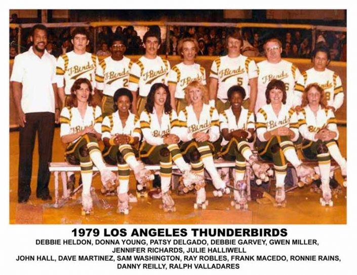 1970's Thunderbirds Teams - Thunderbirds Roller Derby 1979 Team Photo