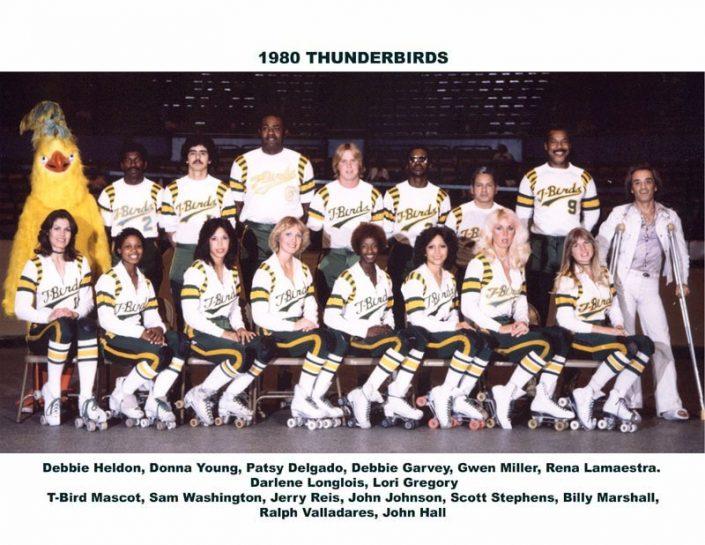 1980's Thunderbirds Teams - Thunderbirds Roller Derby 1980 Team Photo