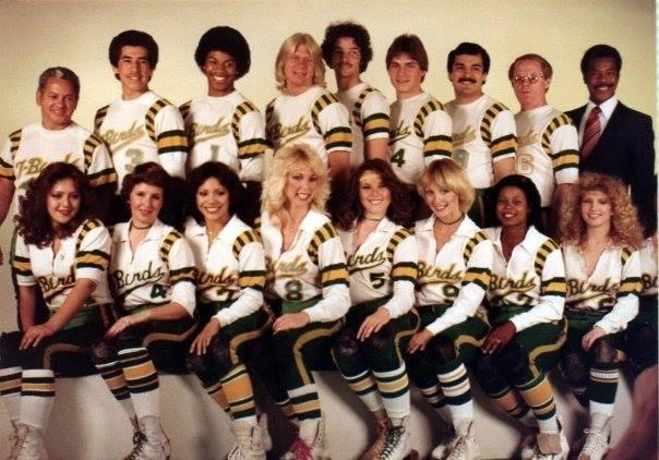 Thunderbirds Roller Derby 1981 Team Photo