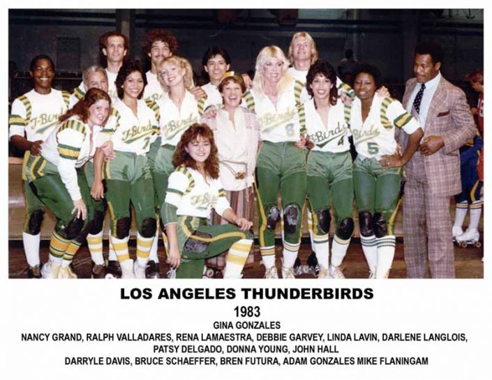 Thunderbirds Roller Derby 1983 Team Photo
