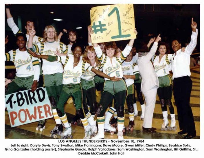 Thunderbirds Roller Derby 1984 Team Photo