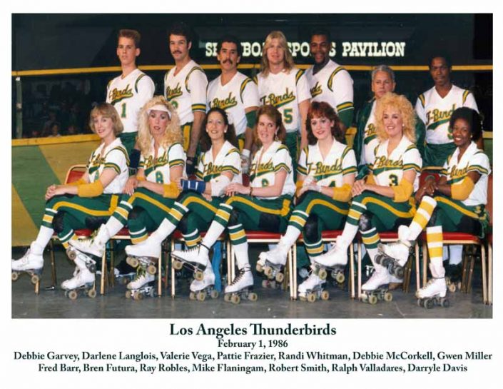 Thunderbirds Roller Derby 1986 Team Photo
