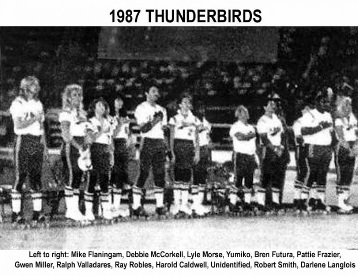 Thunderbirds Roller Derby 1987 Team Photo