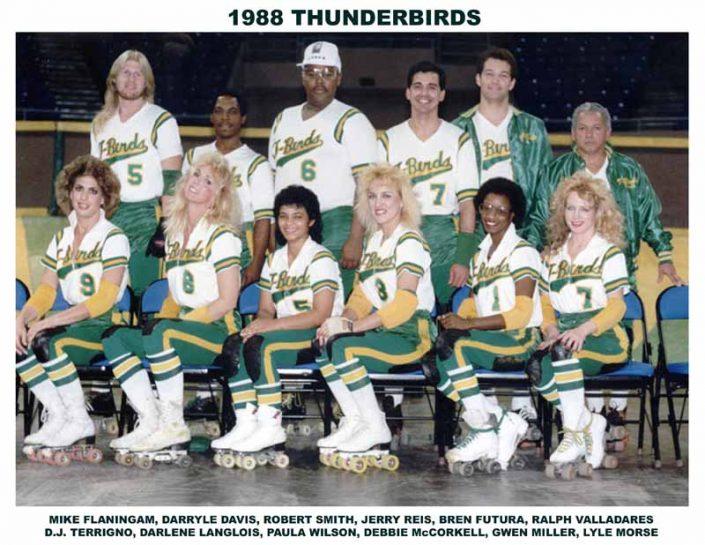 Thunderbirds Roller Derby 1988 Team Photo