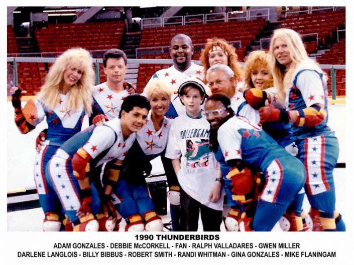 1990's Thunderbirds Teams - Thunderbirds Roller Derby 1990 Team Photo