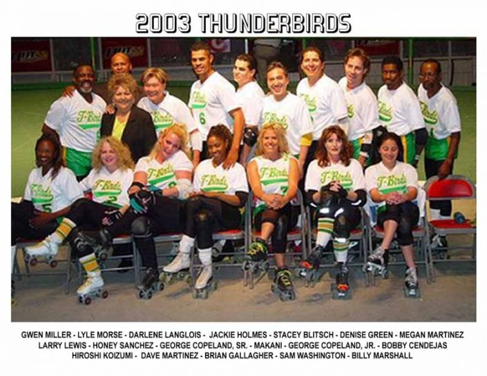 2000's Thunderbirds Teams - Thunderbirds Roller Derby 2003 Team Photo