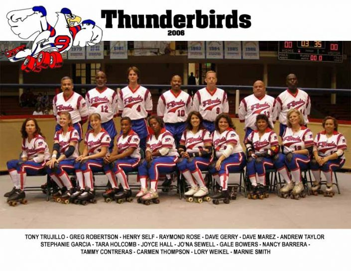 Thunderbirds Roller Derby 2006 Team Photo