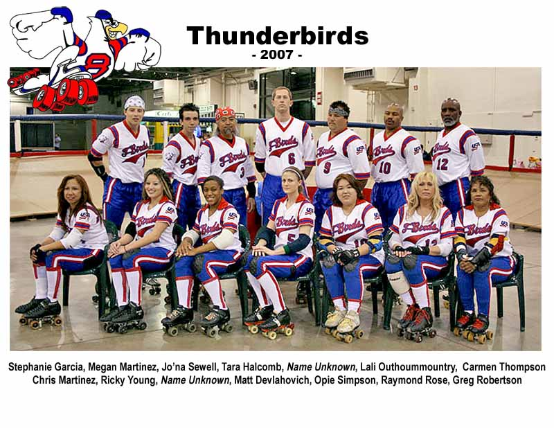 Los Angeles Thunderbirds 2007 Team Photo