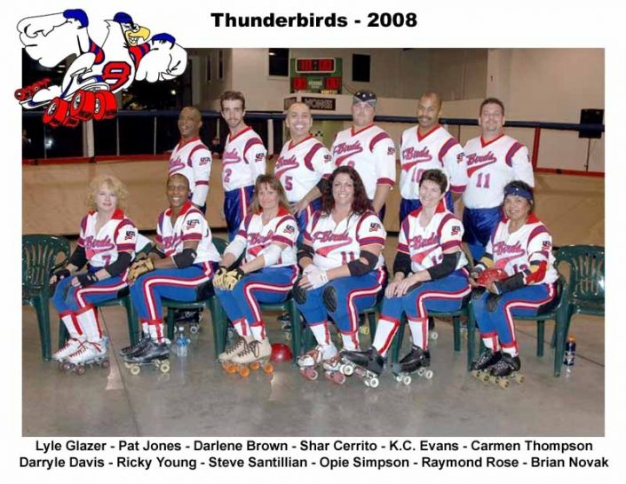 Thunderbirds Roller Derby 2008 Team Photo
