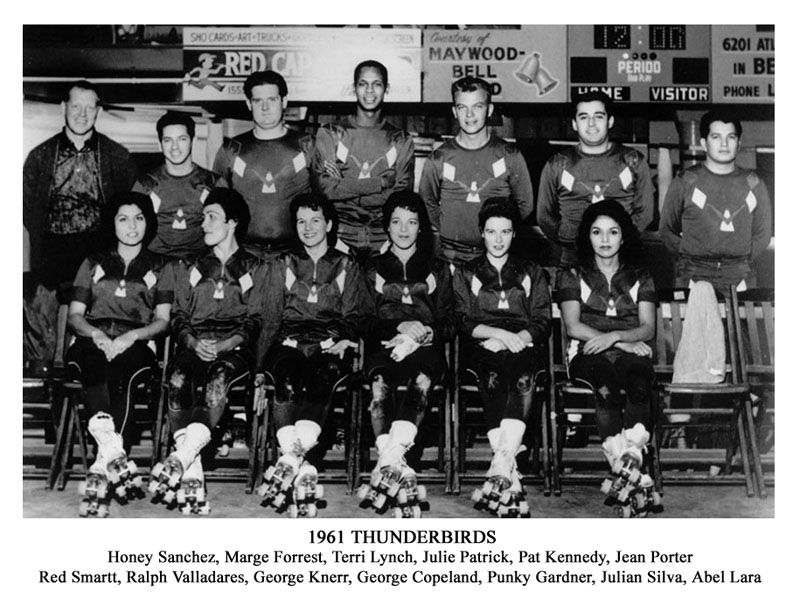 Thunderbirds Roller Derby 1961 Team Photo