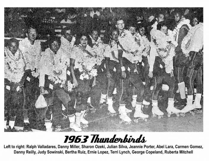 Thunderbirds Teams - Thunderbirds Roller Derby 1963 Team Photo