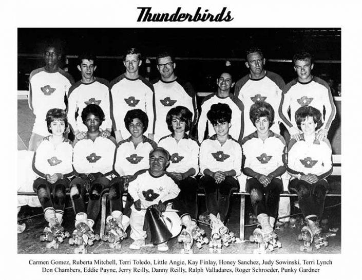 Thunderbirds Roller Derby 1964 Team Photo