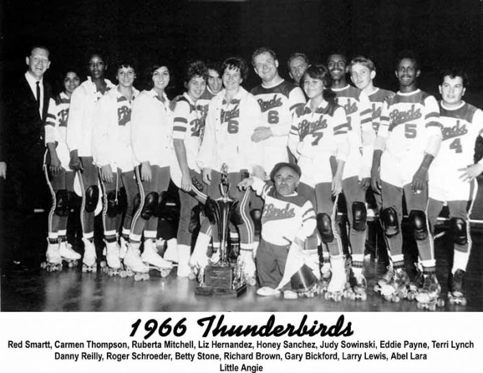 Thunderbirds Roller Derby 1966 Team Photo
