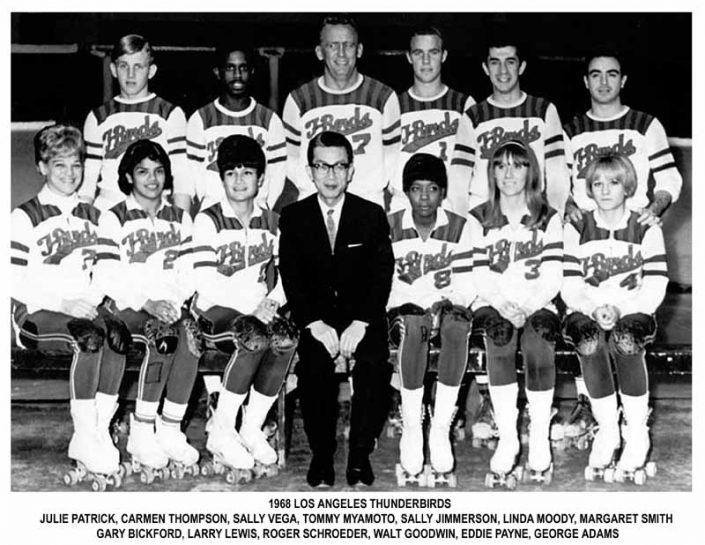 Thunderbirds Roller Derby 1968 Team Photo