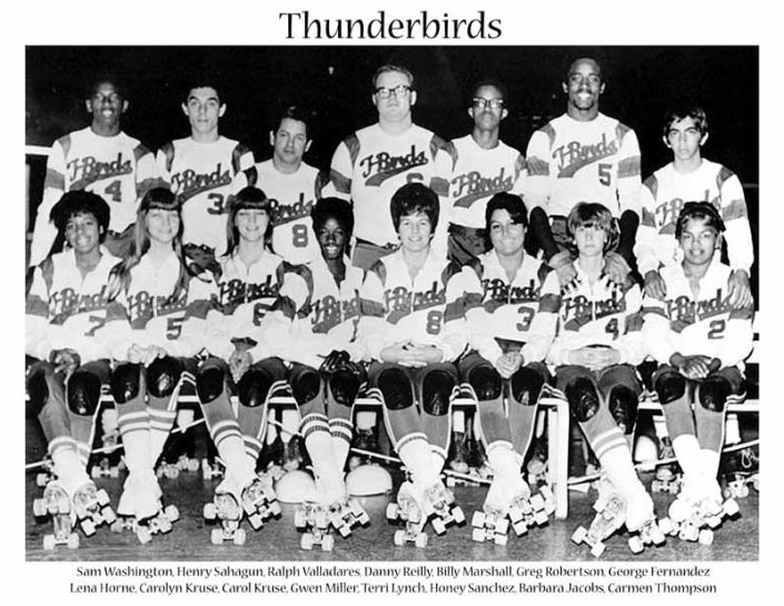 1970's Thunderbirds Teams Thunderbirds Roller Derby 1970 Team Photo