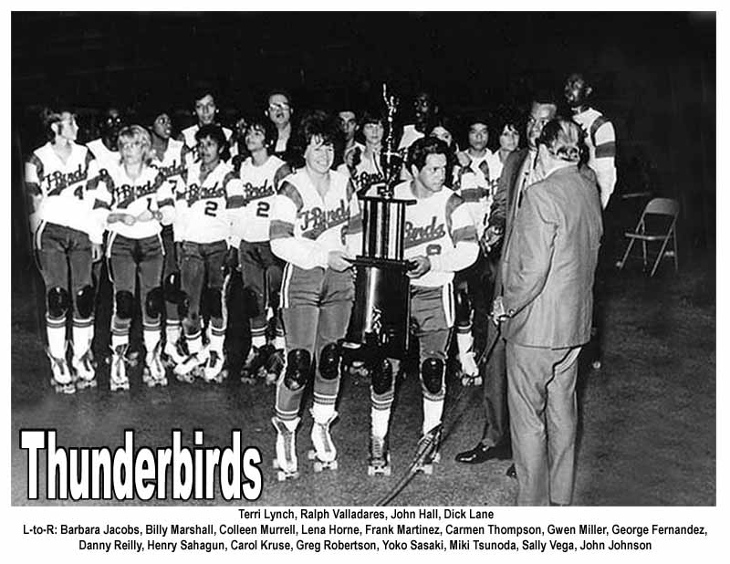 T-Birds - Thunderbirds Roller Derby 1970 Team Photo