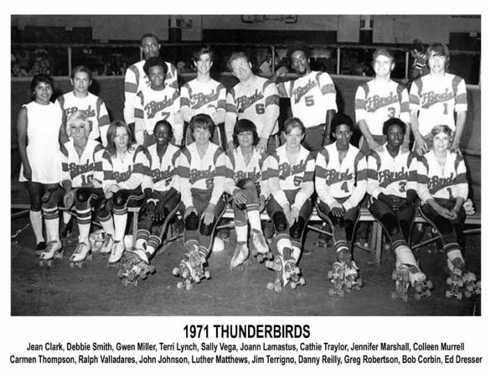 Thunderbirds Roller Derby 1971 Team Photo