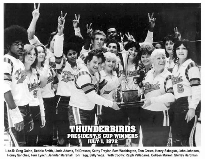 Thunderbirds Roller Derby 1972 Team Photo