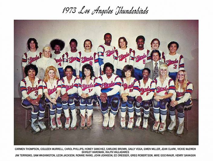 Thunderbirds Roller Derby 1973 Team Photo