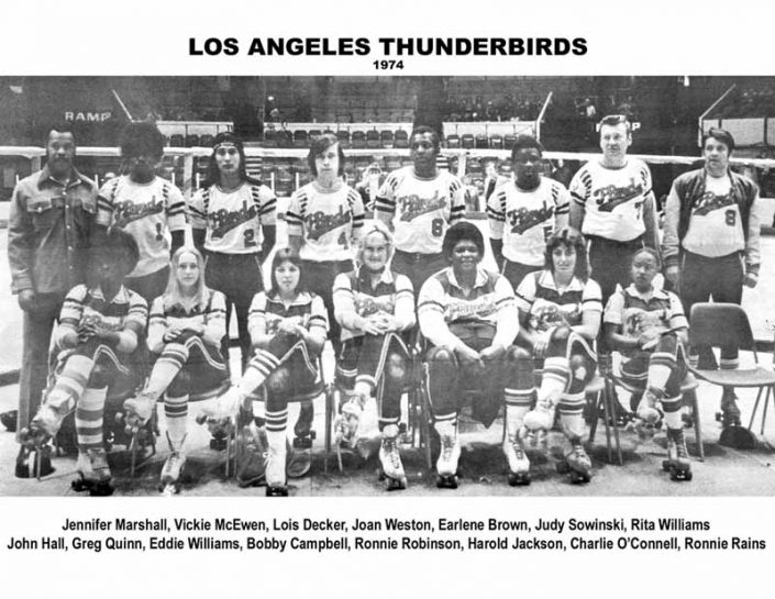 Thunderbirds Roller Derby 1974 Team Photo