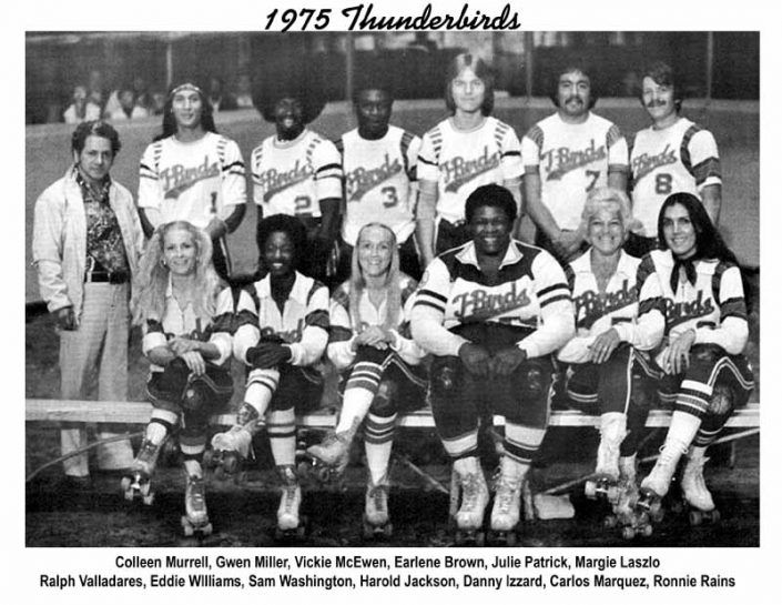 Thunderbirds Roller Derby 1975 Team Photo