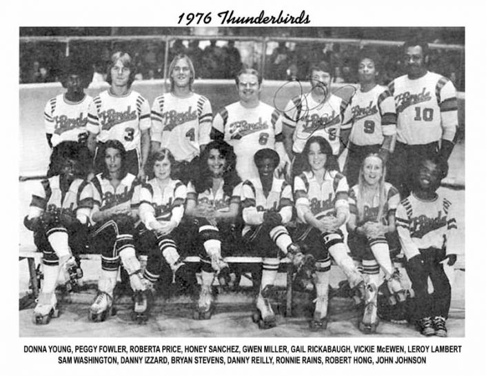 Thunderbirds Roller Derby 1976 Team Photo