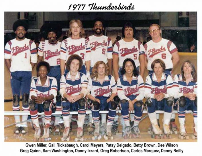 Thunderbirds Roller Derby 1977 Team Photo