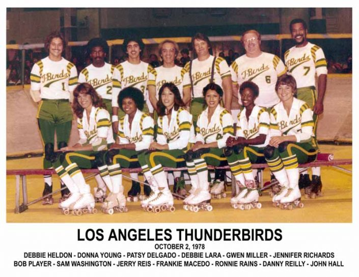 Thunderbirds Roller Derby 1978 Team Photo
