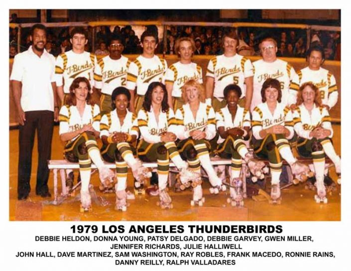1970's Thunderbirds Teams - Thunderbirds Roller Derby 1979 Team Photo