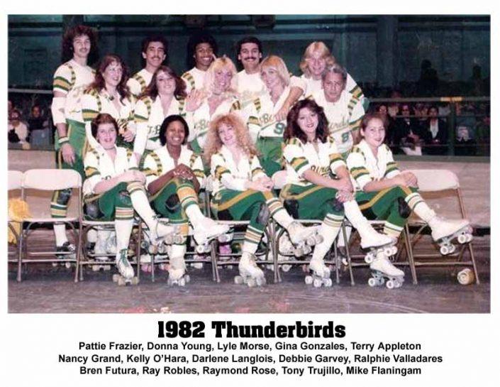 Thunderbirds Roller Derby 1982 Team Photo