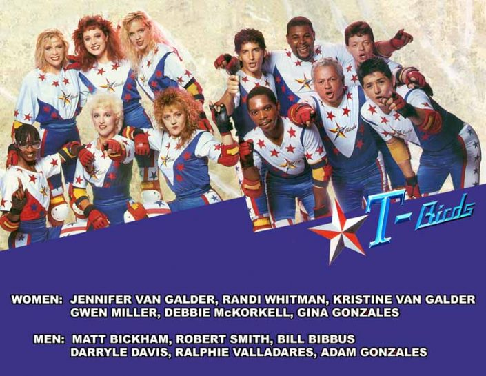 Thunderbirds Roller Derby 1989 Team Photo