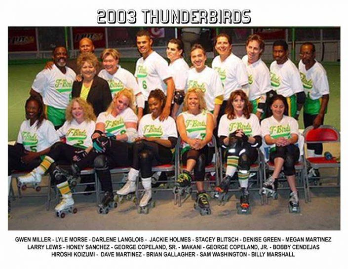 2000's Thunderbirds Teams - Thunderbirds Roller Derby 2003 Team Photo