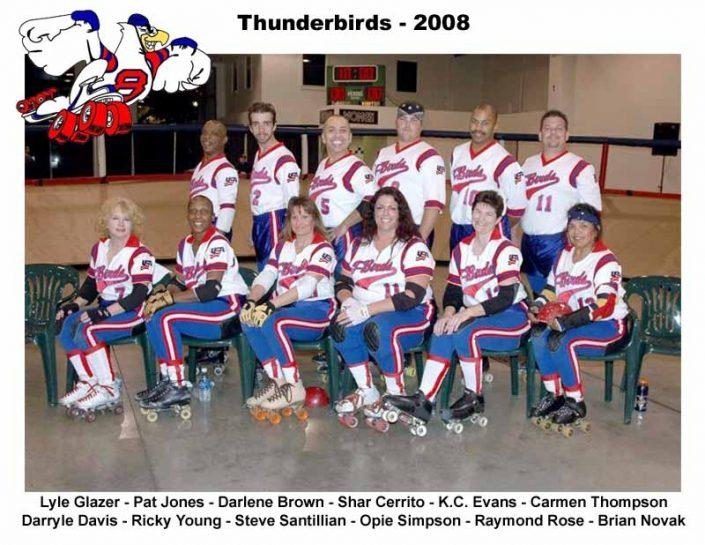 Thunderbirds Roller Derby 2008 Team Photo