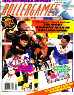 Roller Games Magazine Cover, January 1990